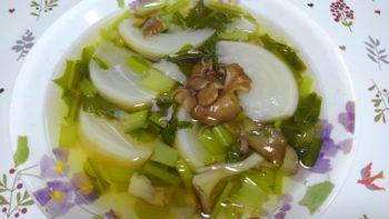 かぶと舞茸のスープ