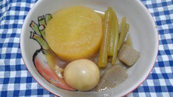 大根とふきの煮物